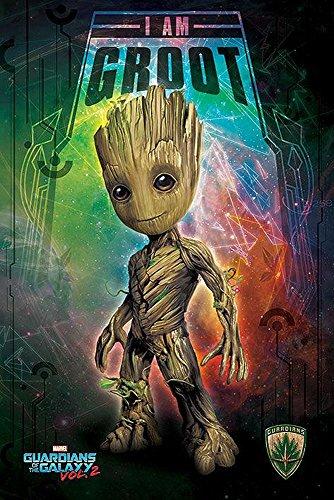 Póster Marvel Guardians of the Galaxy Vol. 2 - I Am Groot [Kid] (61cm x 91,5cm) + 1 póster sorpresa de regalo