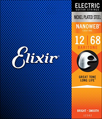 Elixir 12302 Electric Guitar Saiten 6 Baritone Nanoweb Coating