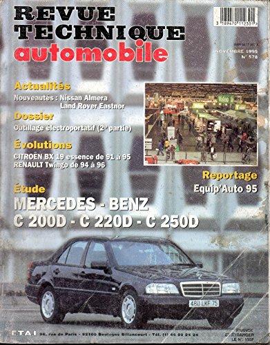 REVUE TECHNIQUE AUTOMOBILE N° 578 MERCEDES CLASSE C DIESEL / C 200D / C 220D / C 250D par E.T.A.I.