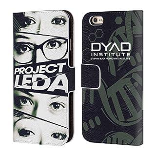 Head Case Designs Offizielle Orphan Black Augen Projekt Leda Brieftasche Handyhülle aus Leder für Apple iPhone 6 / 6s
