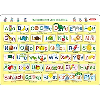 Fragenbär-Mini-Lernposter: Buchstaben und Laute von A bis Z, S 45 x 32 cm: stabiler Karton, folienbeschichtet, abwischbar (Lerne mehr mit Fragenbär)