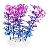Kunstpflanze 10CM Aquarium Dekoration Wasserpflanze violett+blau TOP