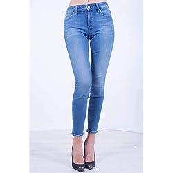 Calvin Klein Pantalones Vaqueros para Mujer CKJ 011 Mid Rise Skinny Turquesa 28W x 30L