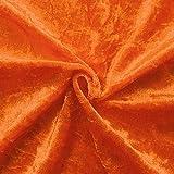 STOFFKONTOR Pannesamt Stoff Meterware Orange