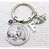 Winnie The Pooh, Personalised Eeyore and Christopher Robin Keyring, Pooh Bear, A A Milne Keyring, Eeyore Gift…