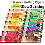 Pagacat Zigarettenpapiere 50 Stück 78mm Rollingpaper Mixed 1 1/4 Aromatisierte Zigarettenpapiere