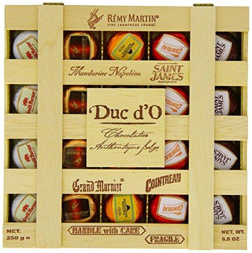 Duc d'O Likörpralinen in der Holzkiste, 1er Pack (1 x 250 g)