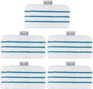 2 lingettes de Rechange rectangulaires pour Nettoyeur Vapeur Kalavika Lot de 2 tampons en Microfibre lavables de Rechange pour Balai /à Vapeur Black /& Decker