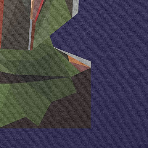 TEXLAB - Poly Bounty Hunter - Herren Langarm T-Shirt Navy