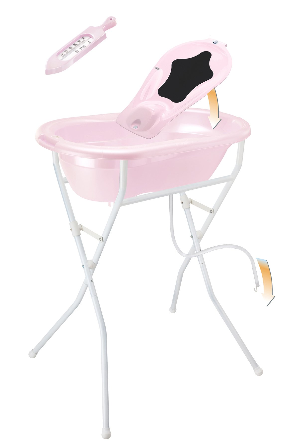 Rotho Babydesign Complete Set with Bath Tub and Foldable Stand, 0-12 Months