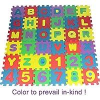 Nisels 36 Pezzo Lettere e Numeri Tappeto Puzzle Bambini in soffice Schiuma EVA, Tappeto da Gioco per Bambini, Tappetino Puzzle