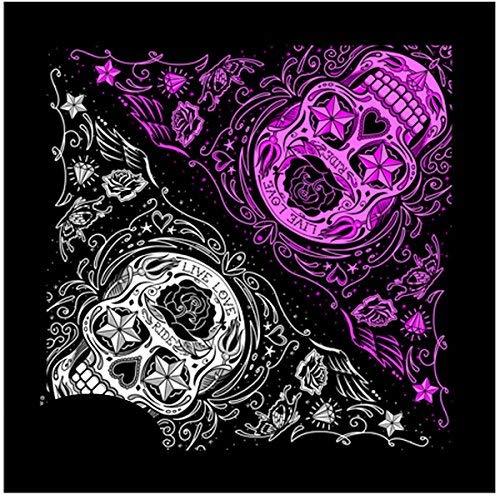 Bandana Tejido pañuelo Biker Skull Lady Rider de Calavera...