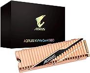 GIGABYTE AORUS NVMe Gen4 M.2 1TB PCI-Express 4.0 Interface High Performance Gaming, Full Body Copper Heat Spreader, Toshiba 3