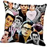 Federa cuscino con collage di Dylan O'Brien, 40,6 x 40,6 cm