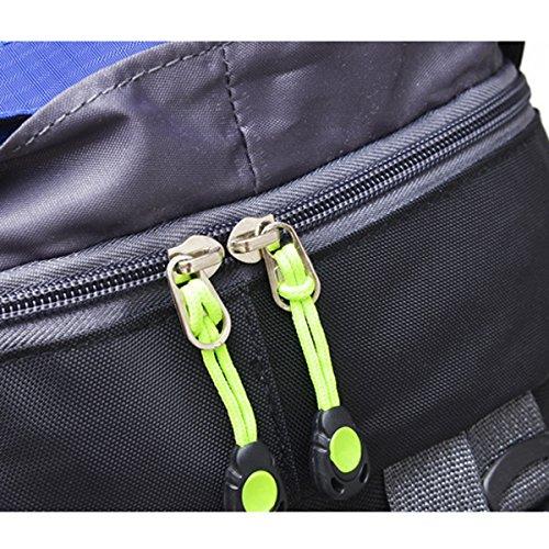 Ciclismo All'aperto Professione Campeggio Sport arrampicata Escursionismo Viaggio Impermeabile Zaino (Blu) verde