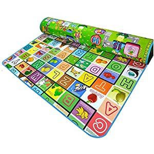 Olly Polly Baby Child Kids Waterproof alphabets and Fruits Children Learning Educational Play Mats