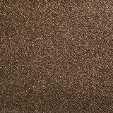 Glitzerstoff-Zuschnitt Braun, 68 x 45 cm