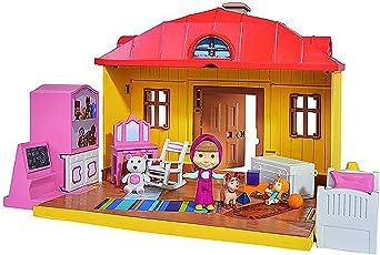 Simba 109301633 - Mascha und der Bär Spielset Mascha´s Haus zum Aufklappen