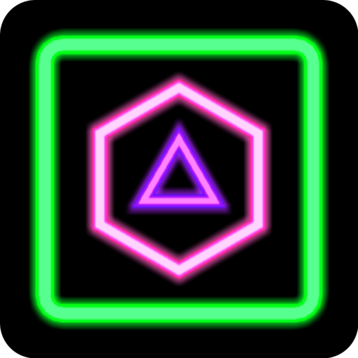 Neon Poly - Shape Puzzle Game