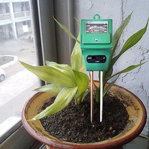 Fugui-in Erde Tester Feuchtigkeit Meter, pH-Säure und Licht Tester, pflanzenbodengrund Tester Kit, ideal für Garten, Bauernhof, Rasen, Indoor & Outdoor (kein Akku erforderlich)