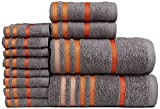 #5: Casa Copenhagen Exotic 12 Piece 475 GSM Cotton Towel Set - Frost Grey