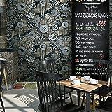 XIAPENG Persönlichkeit Retro Vintage Getriebe Industrie Wind Bronze Tapete Bar Restaurant Kleidung Shop Coffee Shop Tapete (0,53 * 10 M)