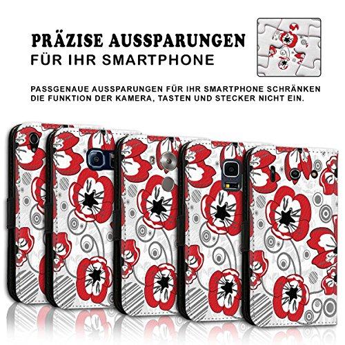 Wallet Book Style Flip Handy Tasche Case Schutz Hülle Schale Motiv Etui für Apple iPhone 6 / 6S - Variante UMV20 Design12 Design 3