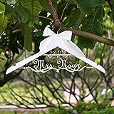 NVBFH43545 Personalisierter Hochzeits-Kleiderbügel für Braut, Kleiderbügel mit Namen und Datum, personalisierbare Hochzeitskleiderbügel für Brautparty