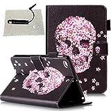 TOCASO Tablet Hülle Muster, Ultra Thin PU Gemalt Leder Flip Cover Tasche Ledertasche Bunte Schutzhülle für Tablet