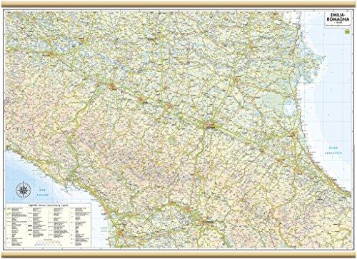 Emilia romagna carta regionale murale [97x70 cm] belletti