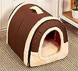Caldo Letto Portatile Cane Gabbia Casa Accogliente per Animale Cane Gatto 6 Colori 3 Dimensioni (Colori 1, M (45X35X35CM))