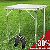 SoBuy® Campingtisch, Klapptisch, Grilltisch, Gartentisch(8816-B 60x45cm höhenverstellbar in zwei Stufen)