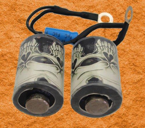 Preisvergleich Produktbild Tattoo Coil TOTENKOPF 10 Wrap 35 mm 47µF Kondensator - Spulensatz für Tattoo-Maschinen