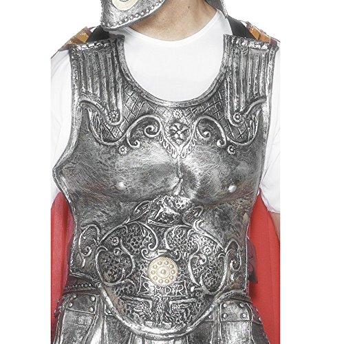 Römischer Kostüm Brustpanzer (Römische Rüstungsbrustplatte Silber Deluxe Gummi, One)