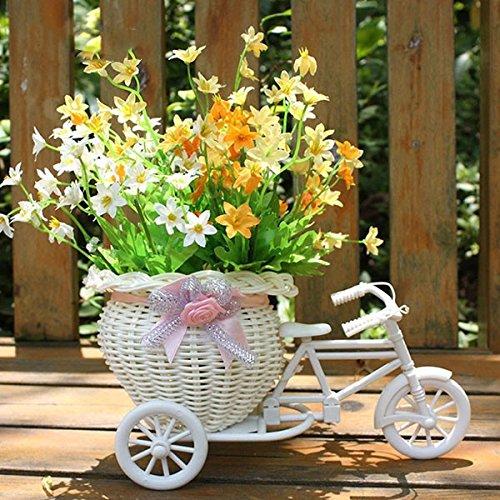Cestino cesto di fiore forma biccletta festa decorazione matriomonio scatola portaconfetti bomboniera (pink)