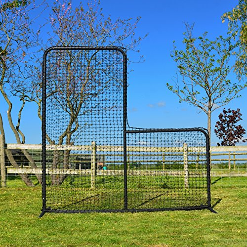 FORTRESS 7ft x 7ft Baseball L-Screen – Frame and Net – The very best available – [Net World Sports] Test