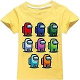 JDSWAN Unisex Niños Camiseta de Verano Impresión de Patrones Camiseta de Manga Corta Ropa Deportiva Casual Tops T-Shirt para