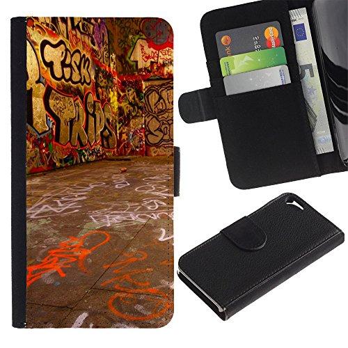 Graphic4You Vintage Retro Art Texture Muster Design Brieftasche Leder Hülle Case Schutzhülle für Apple iPhone SE / 5 / 5S Design #9