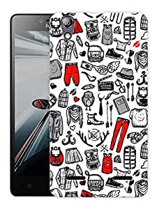 """Humor Gang Baby Clothes Pattern Printed Designer Mobile Back Cover For """"Lenovo A6000 - A6000 PLUS"""" (3D, Matte Finish, Premium Quality, Protective Snap On Slim Hard Phone Case, Multi Color)"""