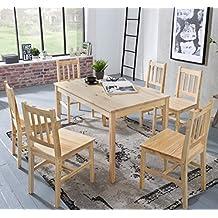 Tischgruppe Buche massiv natur anthrazit Essgruppe 2 x Stühle Esstisch Holz