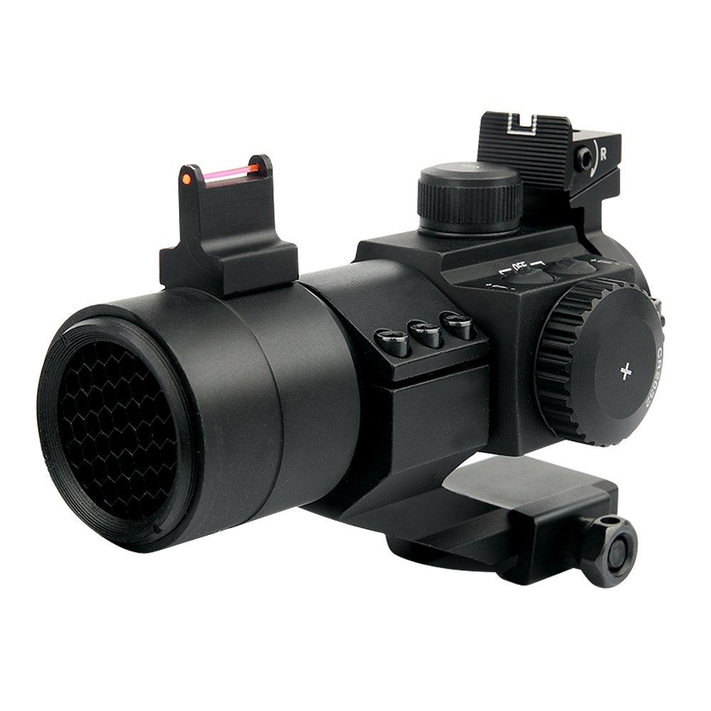 UniqueFire M3D 1x 30Rouge/vert Dot Sight Rouge et vert lumineux anti-brouillard Air visée grossissante avec Picatinny Weaver 20mm Rail