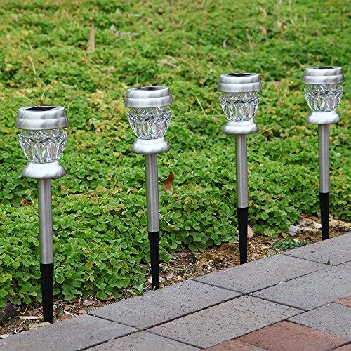 Solar Lights Home Bargains: KEEDA Solar Pathway Lights, Diamond Glass Solar Lights