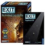 Exit KOSMOS Spiele 692698 Spiel, Die Grabkammer des Pharao, Escape Room Spiel für Zuhause Level Profi Buch - Tagebuch 29 144 Seiten mit Rätseln und Quizthemen
