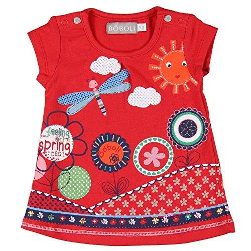 boboli - Vestido Punto Elástico, Vestito per bimba, rosso, 3M(62cm)