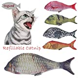 #9: Refilling Catnip Toys Simulation Plush Fish cat Toys Interactive Chewing Toys for Cat/Kitty/Kitten (10*27CM, Brown)