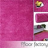 floor factory Hochflor Shaggy Teppich Colors rosa/pink 140x200cm - pflegeleichter und günstiger Langflorteppich