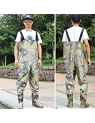 sougayilang boot-foot Waders de coffre imperméable pêche chasse pêche