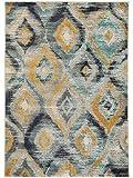 benuta Teppich Casa Multicolor/Türkis 160x230 cm | Moderner Teppich für Wohn- und Schlafzimmer