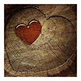 Vliestapete–Natural Love–Wandbild quadratisch