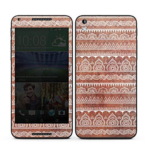 HTC Desire 816G Case Skin Sticker aus Vinyl-Folie Aufkleber Muster Blumen Indisch
